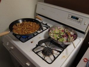sautéing potatoes and other vegetables